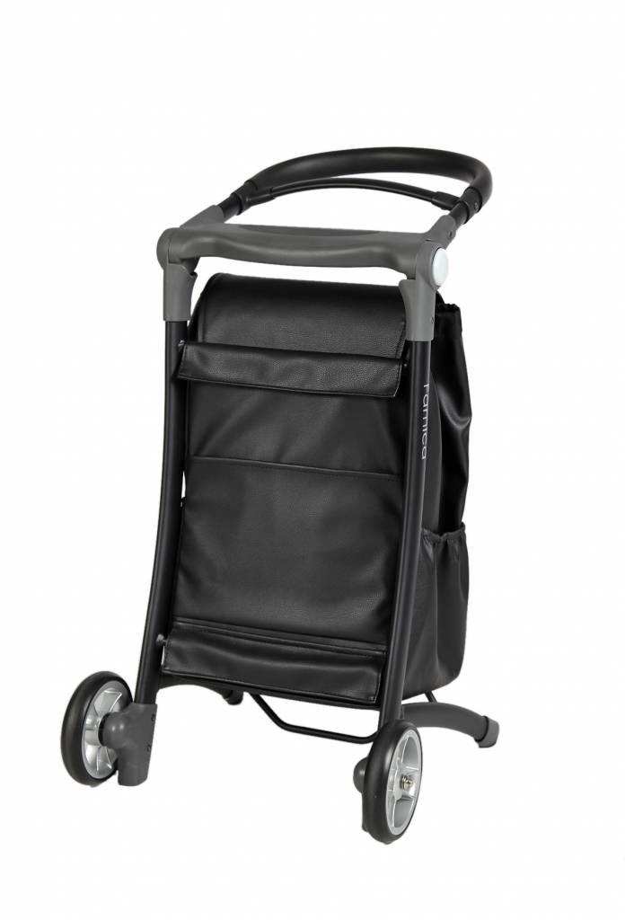 Wheelzahead Black Leather Bag for the RELAX&GO