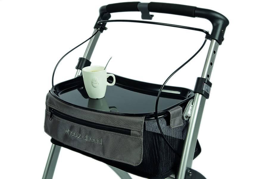 Wheelzahead Black tray for Rollator INDOOR