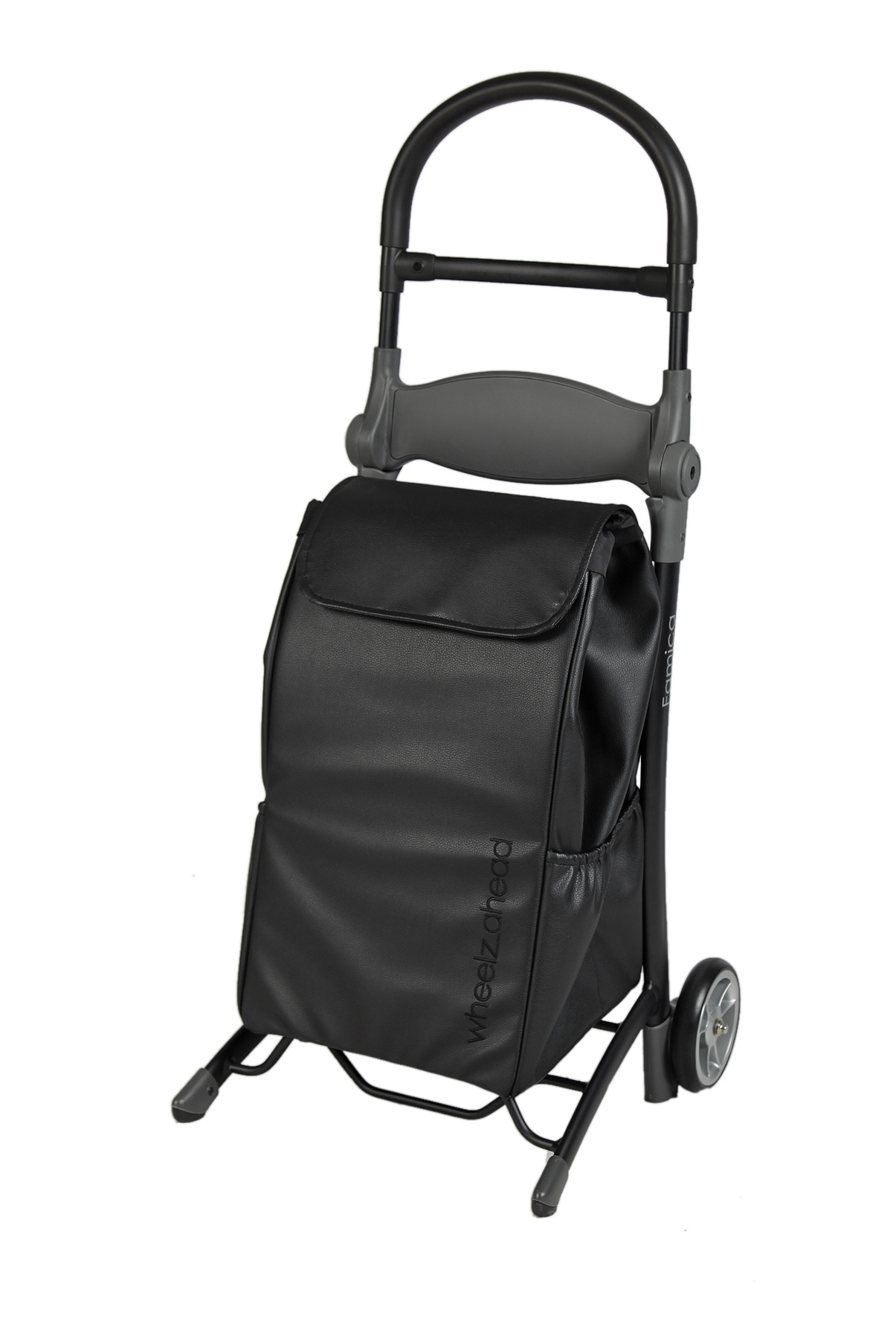 Wheelzahead RELAX&GO Shopping trolley with seat + Leather Bag