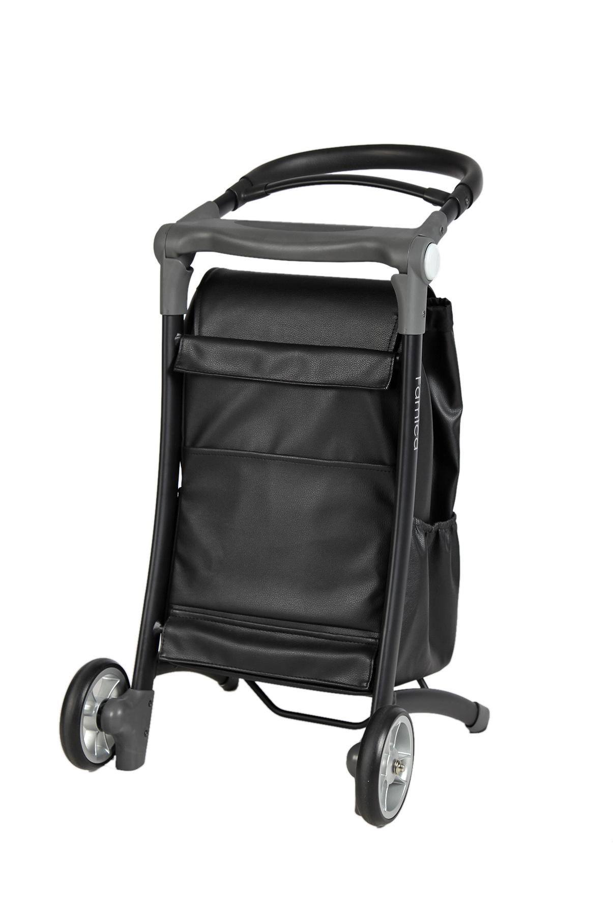 Wheelzahead RELAX & GO Grau + Schwarz Ledertasche