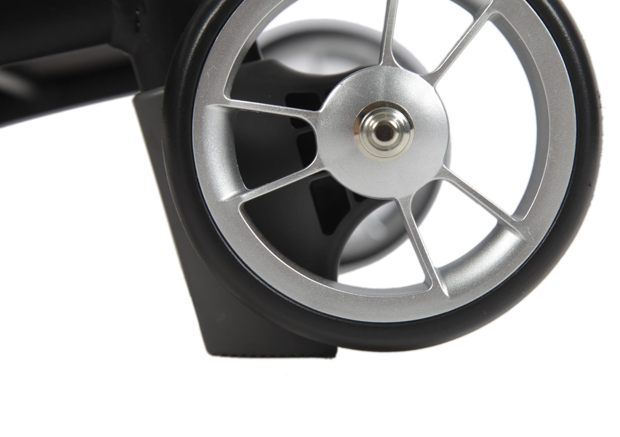 Wheelzahead RELAX & GO + Grijze tas + Zwart lederen tas