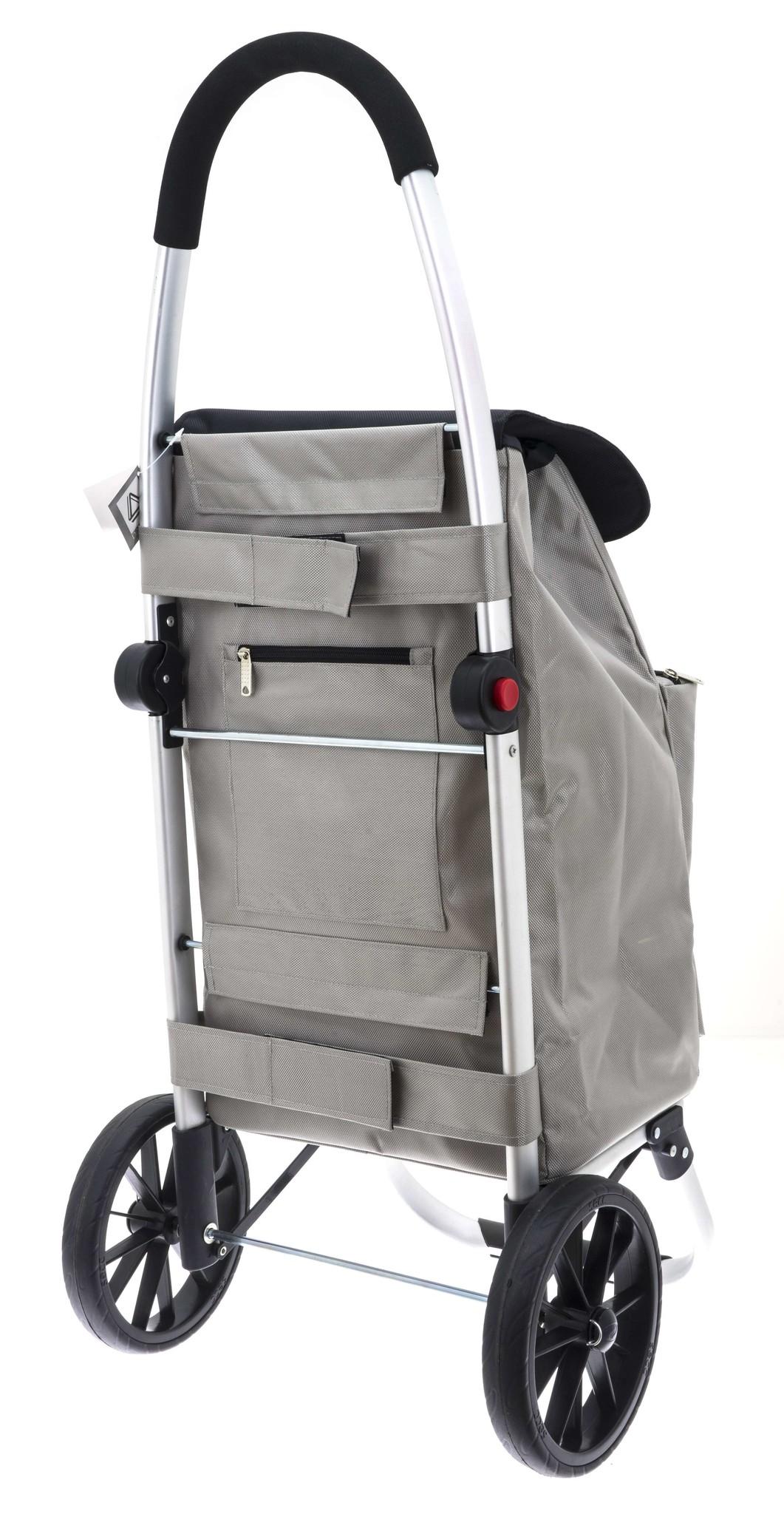 KOMFORT Einkaufswagen Silber Grau