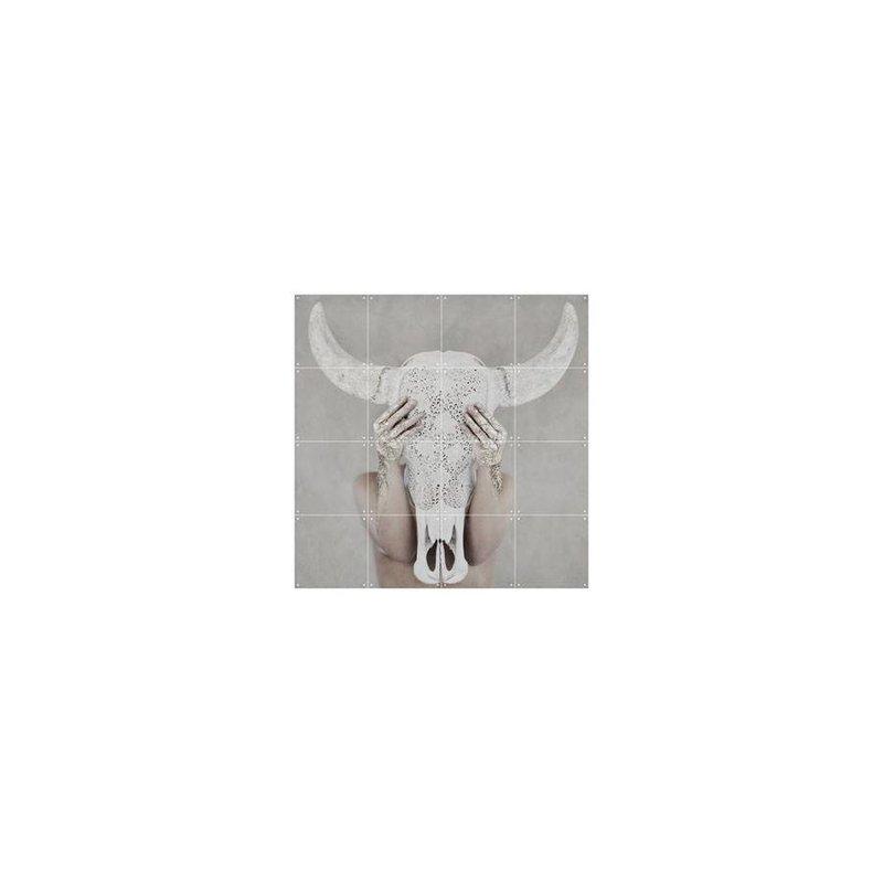 IXXI Wanddecoratie Bohemian Skull - Klein 80 x 80 cm