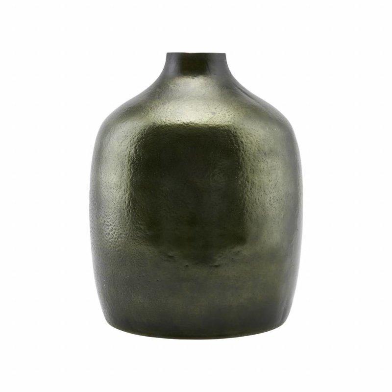 Groene Glazen Vaas.House Doctor Bk0300 Glazen Vaas O24 5xh29 5cm Glas
