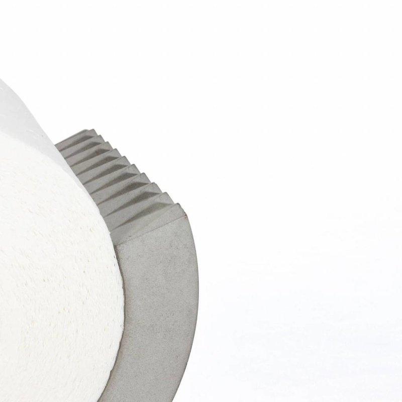 Lyon Béton DB-09170 Toiletrolhouder - Cloud XS - Grijs