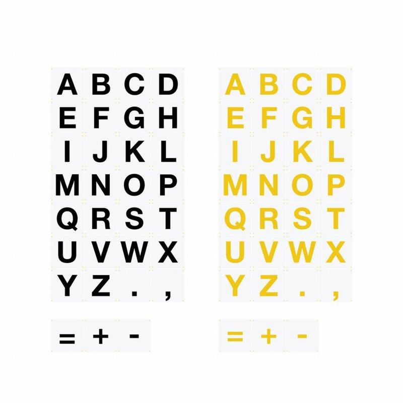 IXXI Wanddecoratie ABC Alfabet 30 stuks 20 x 20 cm