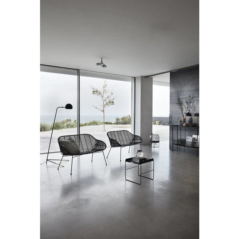 Hübsch 990605 Vloerlamp - ø40xH56cm - Glas Metaal - Zwart