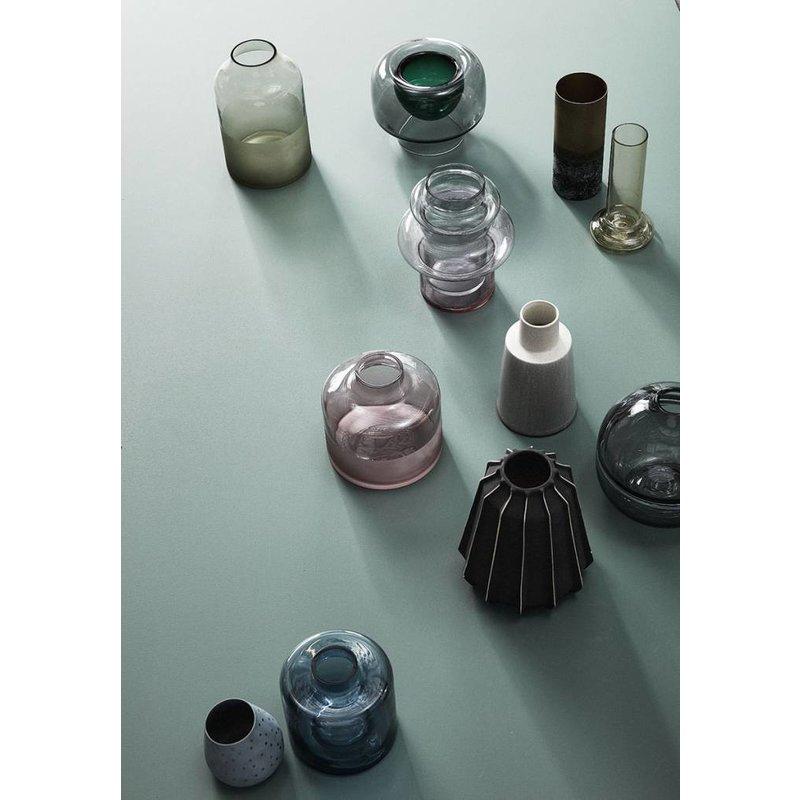 Hübsch 950216 Glazen Vaas - ø19xH22cm - Glas - Roze Blauw