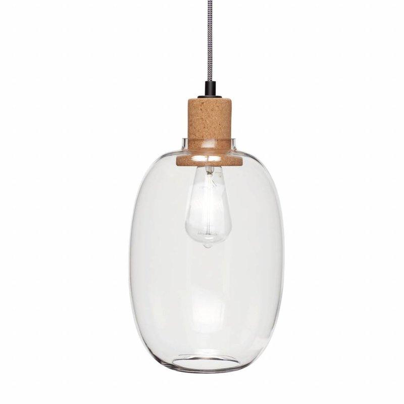 Hübsch 950414 Hanglamp - ø21xH37cm - Glas Kurk
