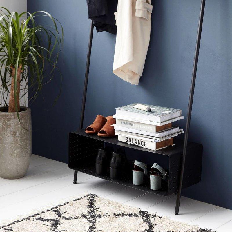 House Doctor Kledingrek zwart staal 74 x 170 cm