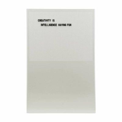 House Doctor Prikbord grijs met 424 cijfers tekens en letters 90 x 60 cm