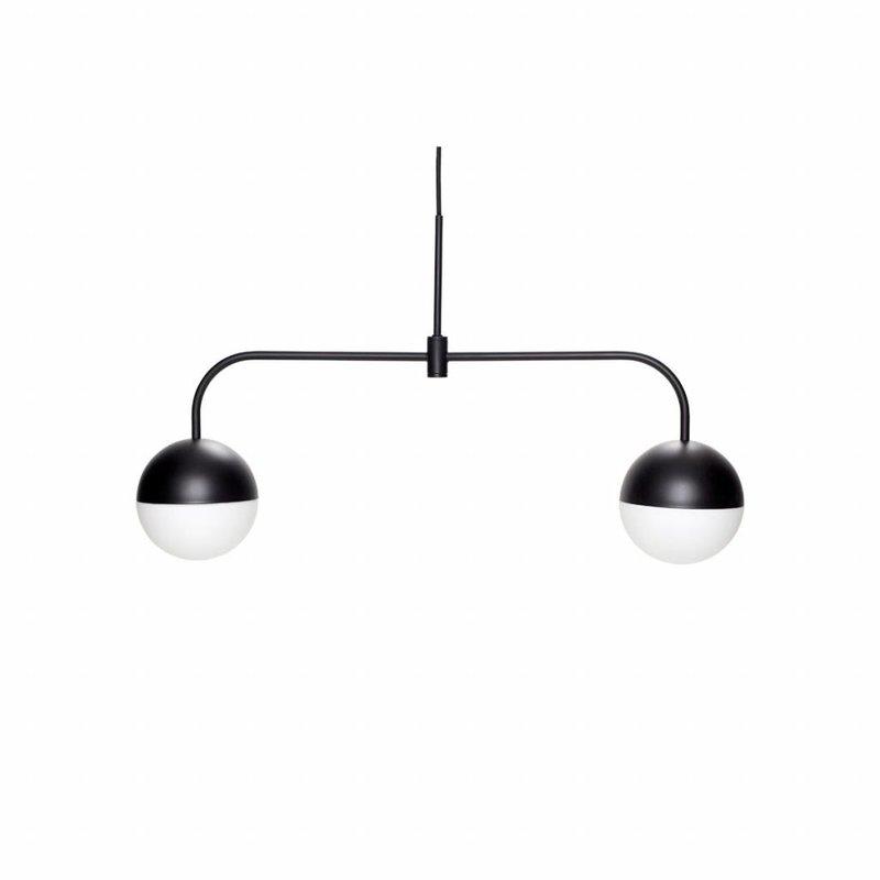 Hübsch Hanglamp zwart metaal 74 x 43 cm