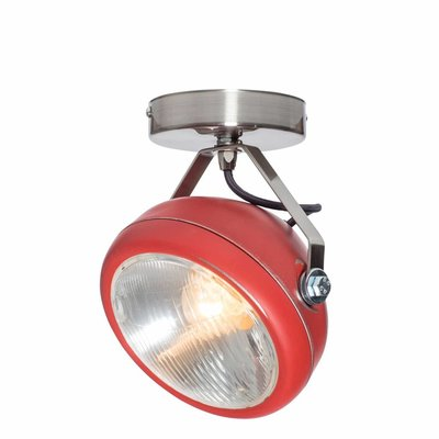 Het Lichtlab Wandlamp - No.7 Spot - ø18xH23cm - Metaal - Rood