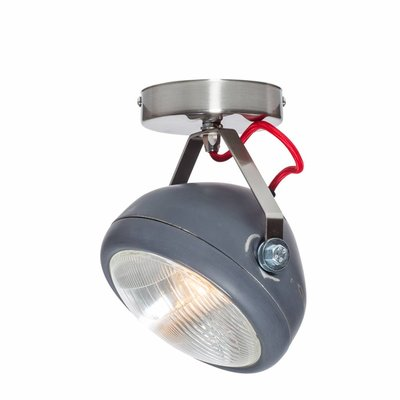 Het Lichtlab No.7 spot koplamp grijs