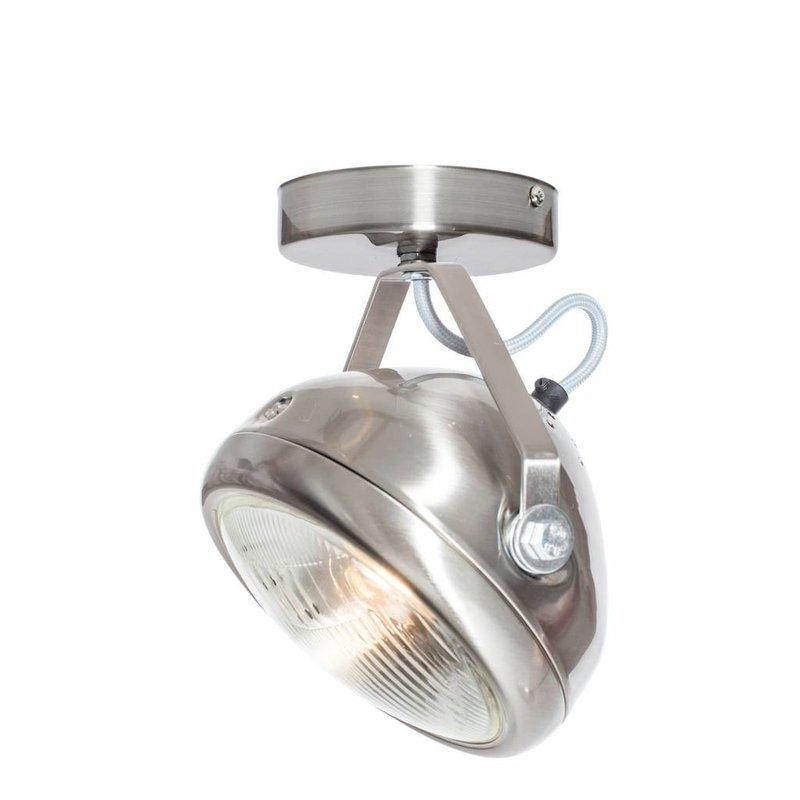 Het Lichtlab No.7 spot koplamp rvs