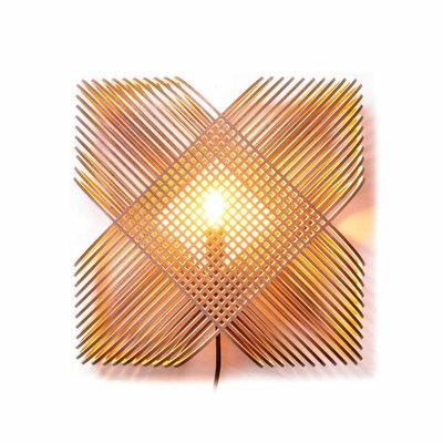 Het Lichtlab Wandlamp - No.39 Ovals by a-LEX - L35xH15cm - MDF - Bruin
