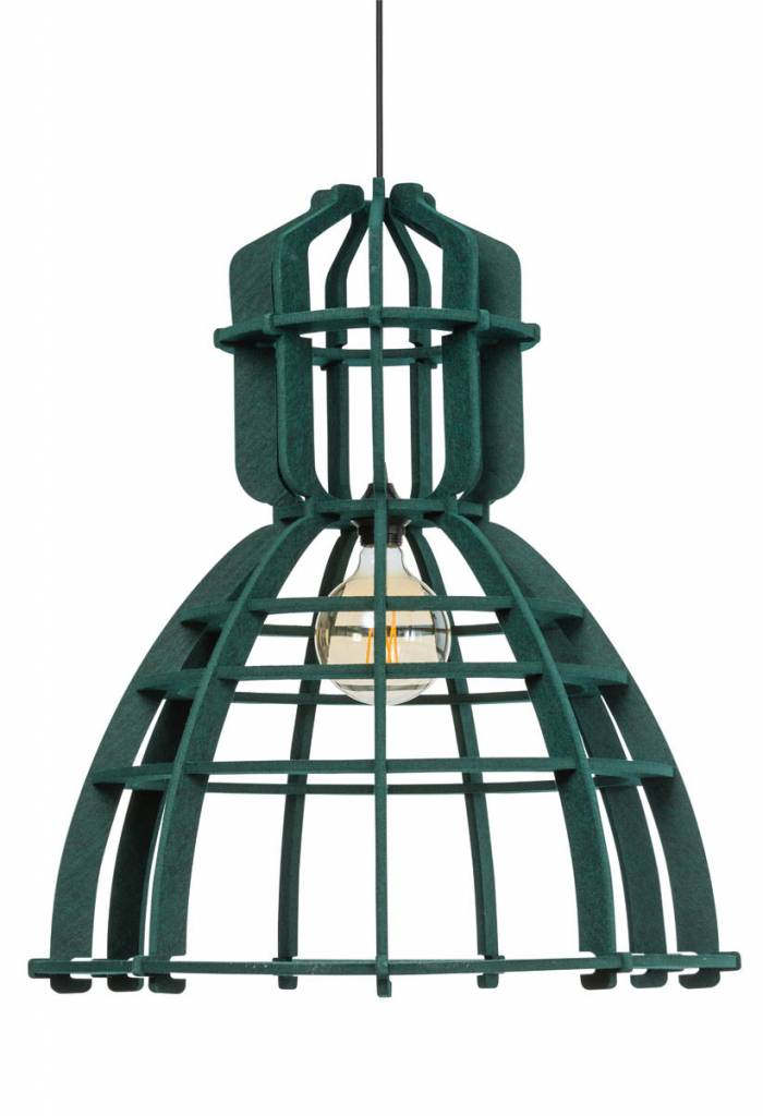Het Lichtlab Hanglamp - No.19 Industrielamp PET - �60xH72cm - Vilt - Donker groen