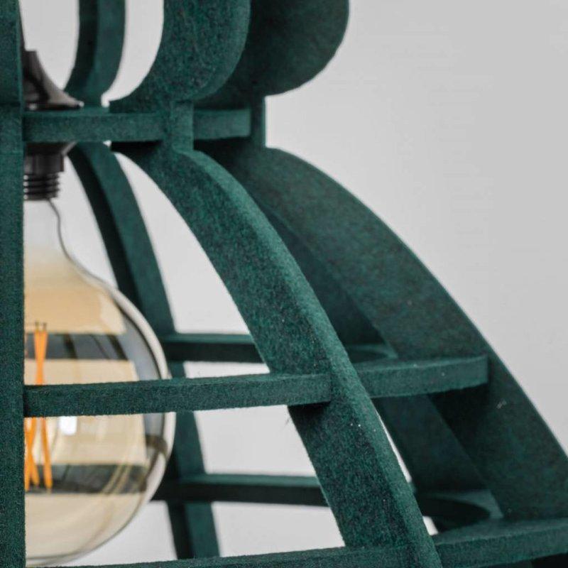 Het Lichtlab Hanglamp no.19 xl industrielamp PET donker groen vilt