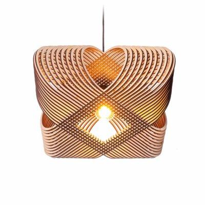 Het Lightlab Hanglamp - No.39 Ovals by a-LEX - L52xH17cm - MDF - Bruin
