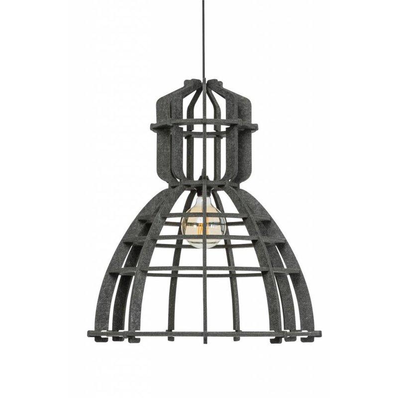 Het Lichtlab Hanglamp no.19 xl industrielamp PET donker grijs  vilt