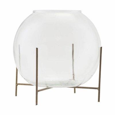 House Doctor SV1030 Vaas met standaard - Ada - ø20xH16cm - Glas - Transparant