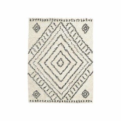 House Doctor RM0140 Vloerkleed - Nubia - L210xB160cm - Katoen - Zwart Wit