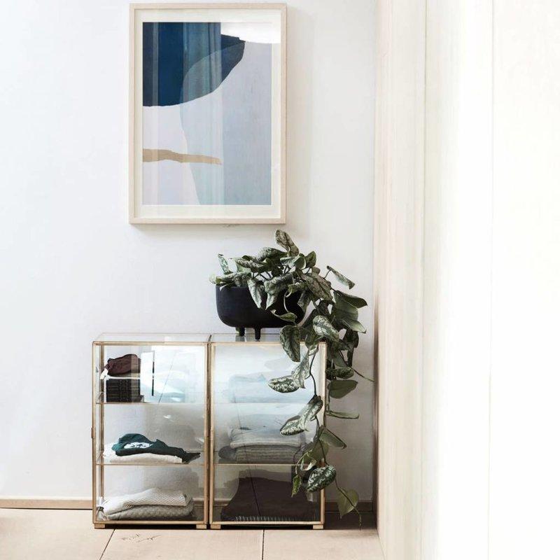 House Doctor IS0801 Decoratie Schaal - Jela - ø28xH16.5cm - Aluminium - Zwart