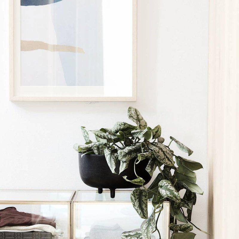 House Doctor Bloempot Jela zwart Ø 28 x 16,5 cm