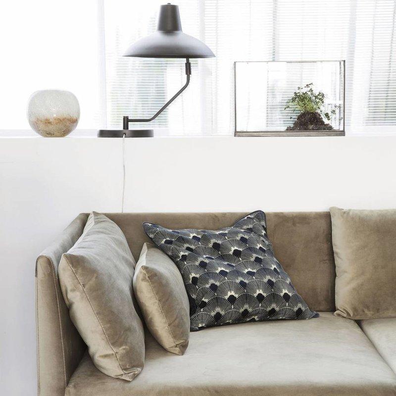 House Doctor AB1046 Sierkussen - Ananda  - 50 x 50 cm - Donkerblauw