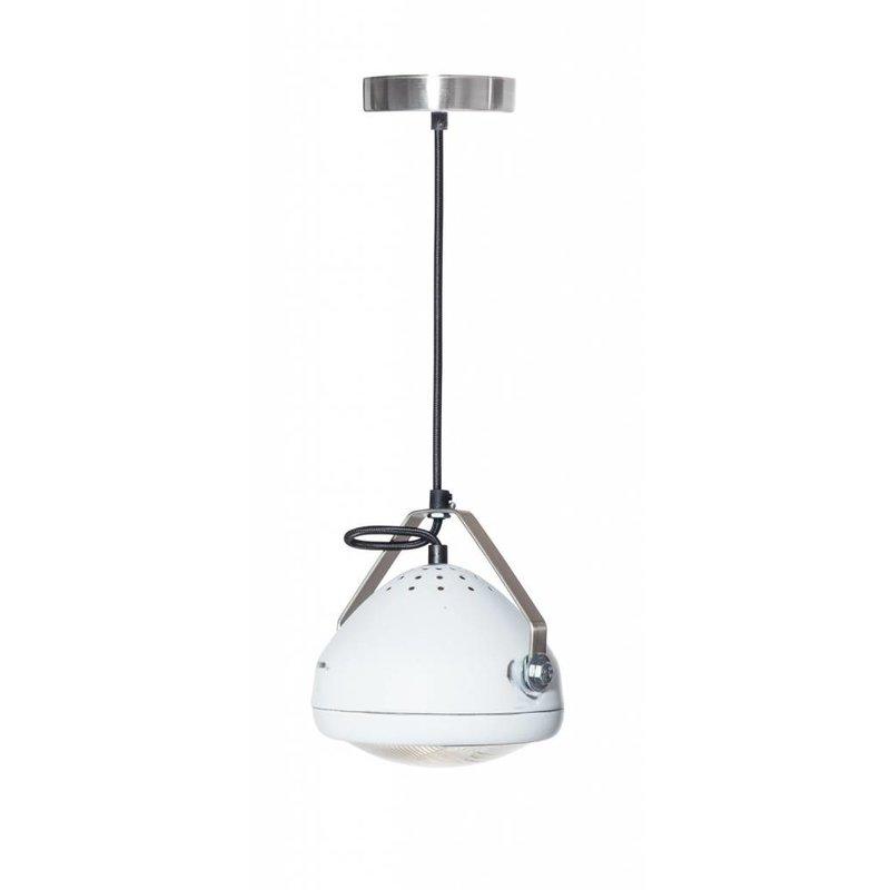 Het Lichtlab No.5 hanglamp koplamp wit geschuurd