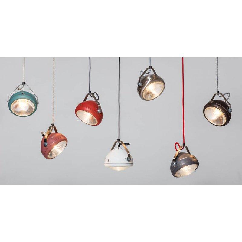 Het Lichtlab No.5 hanglamp koplamp rvs geschuurd