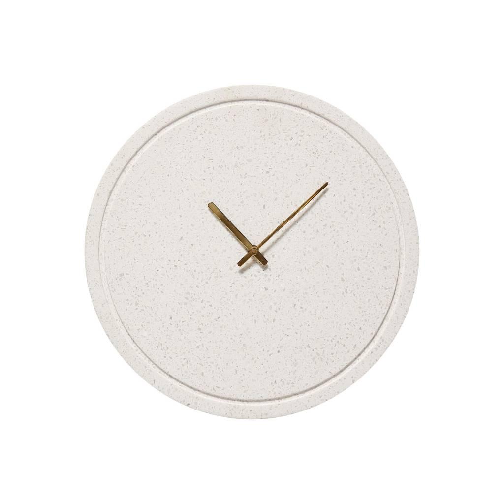 H�bsch Wandklok Terrazzo wit met goud 40 cm