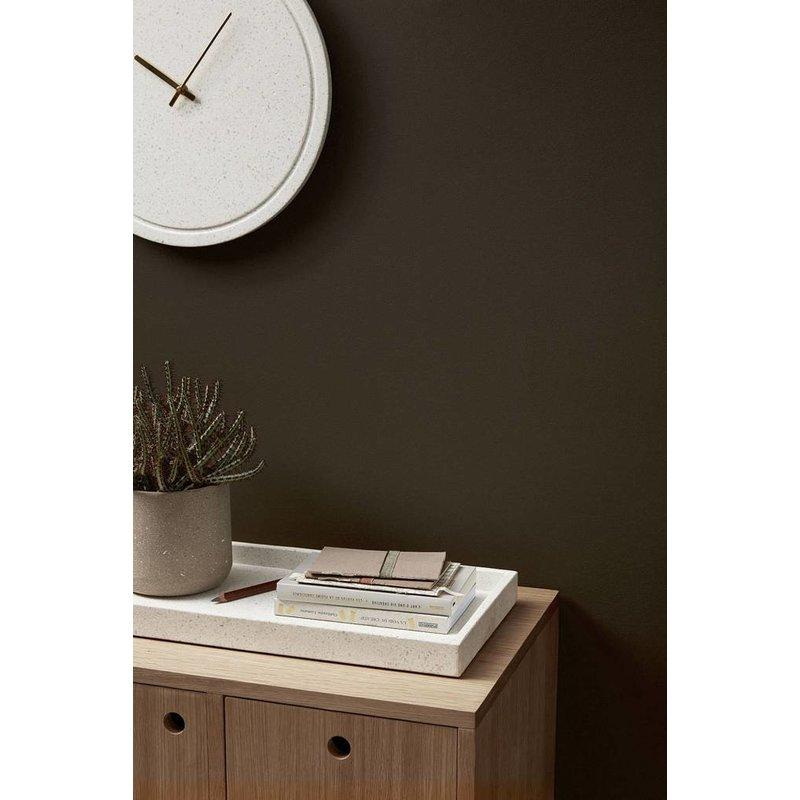 Hübsch Wandklok Terrazzo wit met goud 40 cm