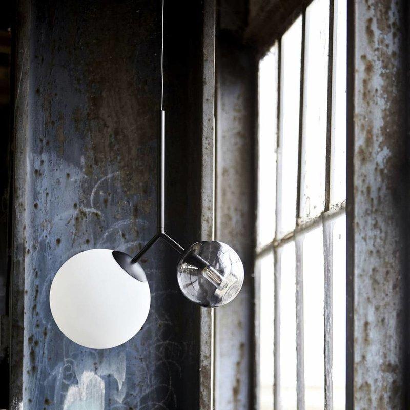 House Doctor Hanglamp Twice - zwart - H 70 cm
