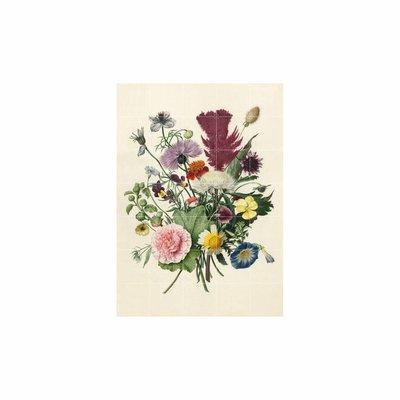 IXXI wanddecoratie Flowers Dark & Light - 100 x 140 cm