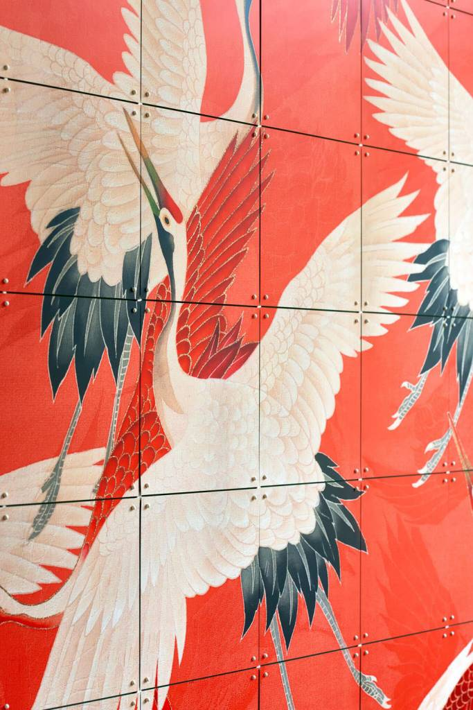 IXXI wanddecoratie Kimono with Cranes - 80 x 100 cm