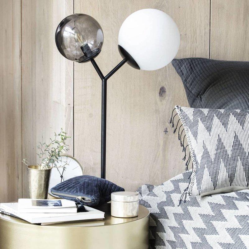 House Doctor Tafellamp Twice - zwart - H 42 cm