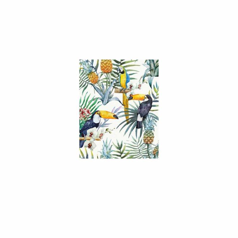 IXXI wanddecoratie Tiger Jungle & Toucan Family - 80 x 100 cm