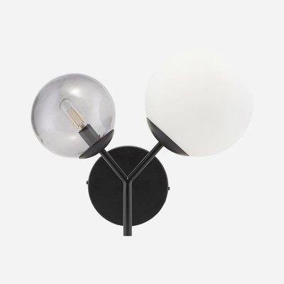 House Doctor Wandlamp Twice - zwart - 50 x 17 cm