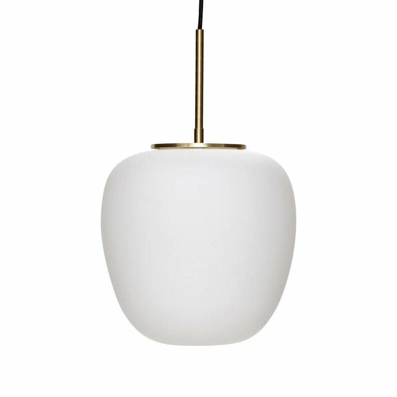 Hübsch 990723 Hanglamp - mat wit en goud - Ø 30 cm H 28 cm