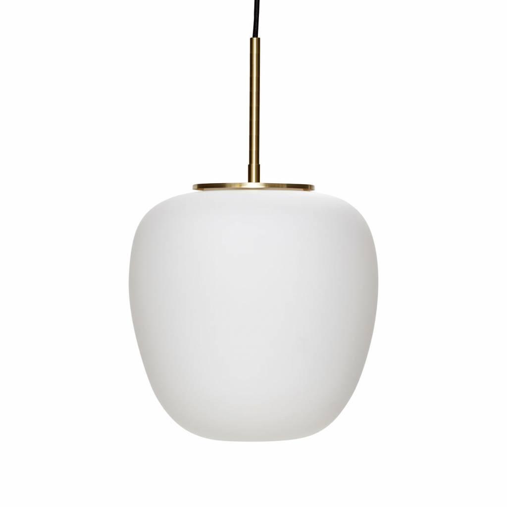 H�bsch Hanglamp - mat wit en goud - � 30 cm H 28 cm