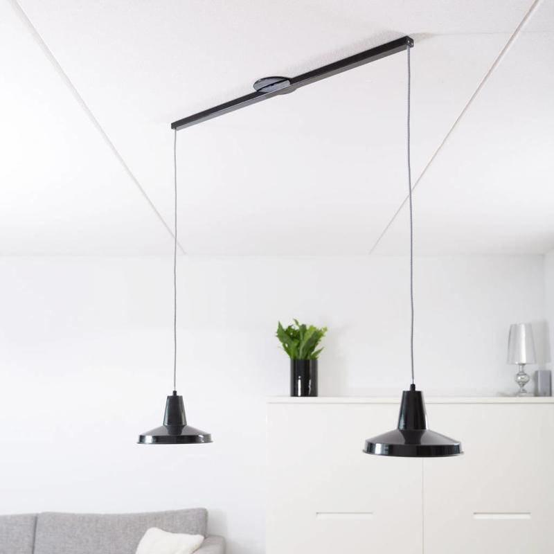 Lightswing Zwart mat Twin Ophangsysteem voor hanglampen