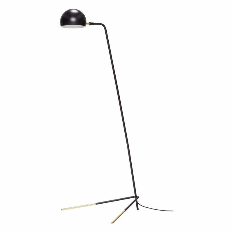 Hübsch 370411 vloerlamp - 62 x 80 x H150 cm - zwart en messing