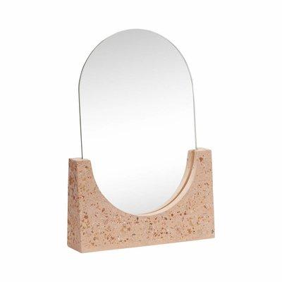 Hübsch 530701 spiegel - 20 x 5 x H27 cm - terrazzo rood