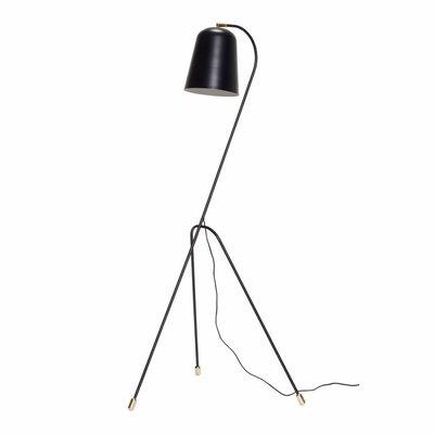 Hübsch 990607 vloerlamp - 55 x 55 cm x H156 cm - zwart en messing