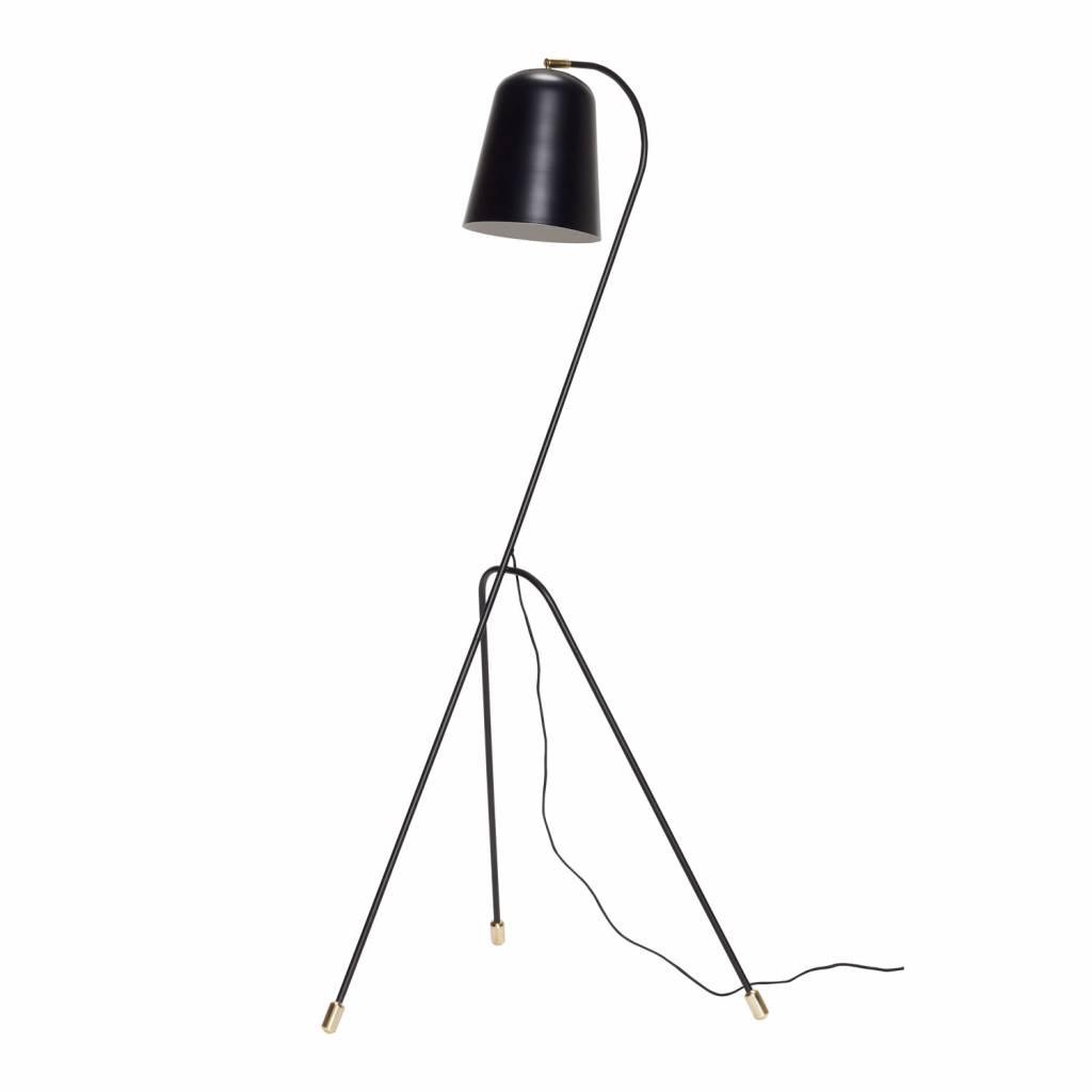 H�bsch 990607 vloerlamp - 55 x 55 cm x H156 cm - zwart en messing