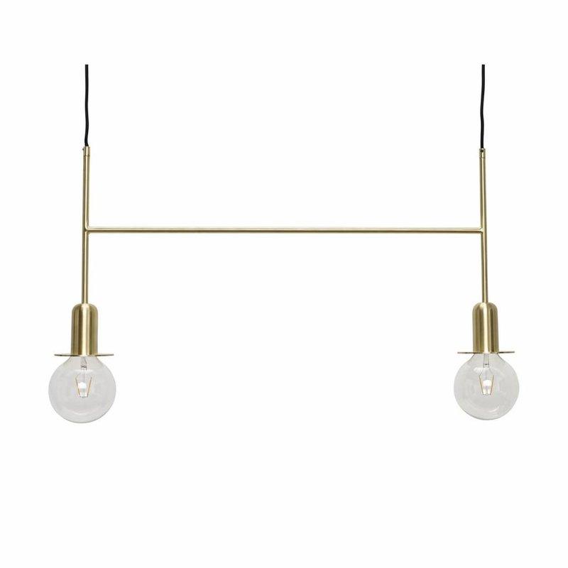 Hübsch 990817 hanglamp -  86 x H40 cm - Messing