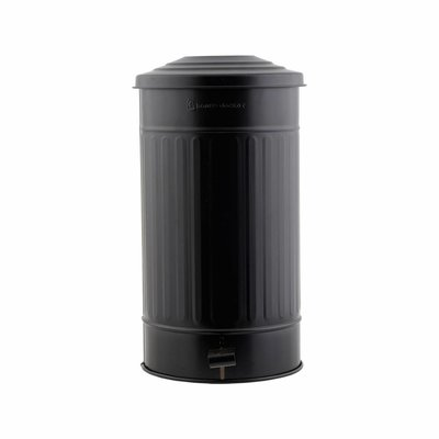 House Doctor AS0122 Afvalemmer - Ø25,5 x H48 cm - zwart
