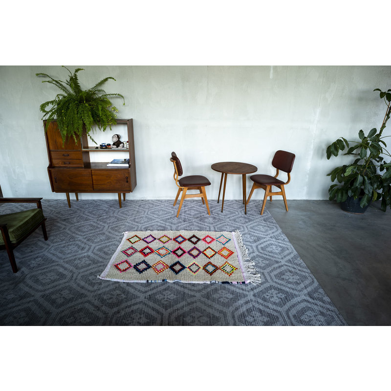 House for Interior nr. 4 Vloerkleed - Azilal - Wol - 130 x 96 cm - Crème - Multi colour