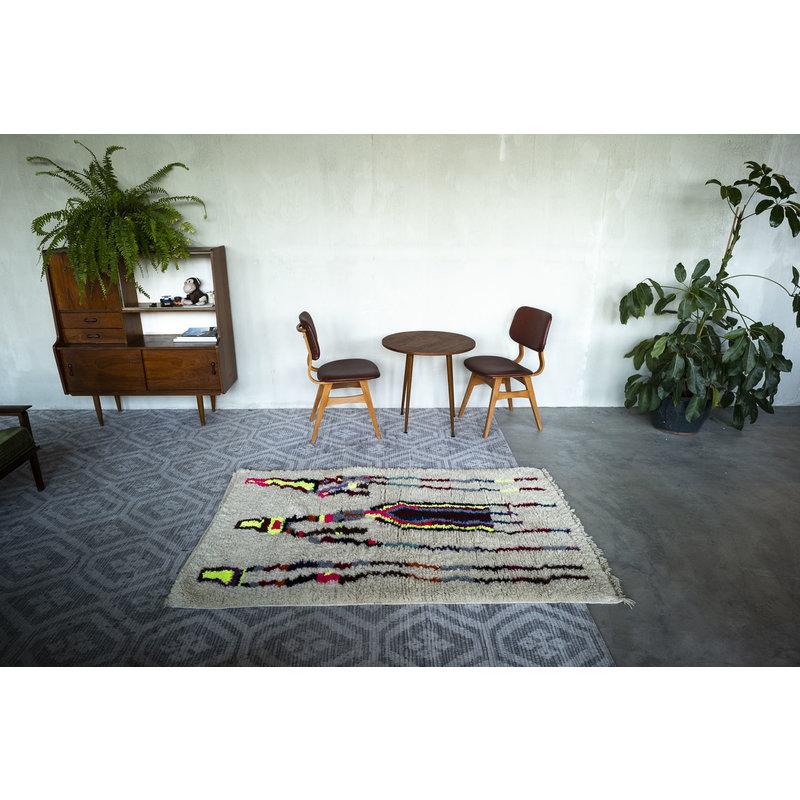 House for Interior nr. 9 Marokkaans Vloerkleed - Azilal - 188 x 120 cm - Crème - Fluor